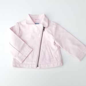 Baby Gap Pink Faux Leather jacket size 12-18 month